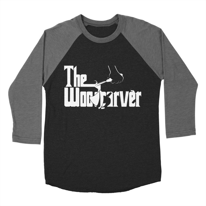 The Woodcarver Men's Baseball Triblend T-Shirt by Ben's Shirt Shop of AwesomeShop