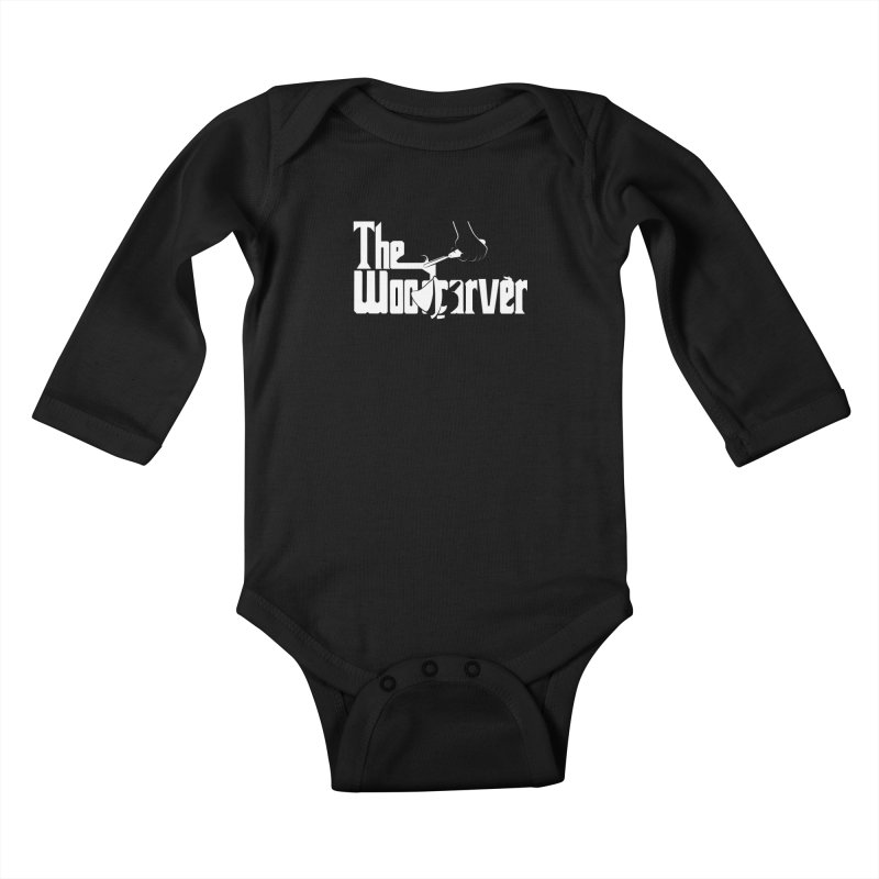 The Woodcarver Kids Baby Longsleeve Bodysuit by Ben's Shirt Shop of AwesomeShop