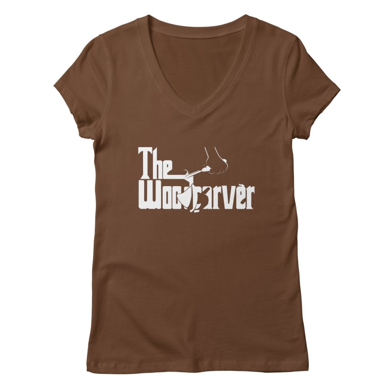 The Woodcarver Women's V-Neck by Ben's Shirt Shop of AwesomeShop