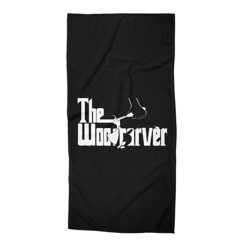 The Woodcarver Accessories Beach Towel by Ben's Shirt Shop of AwesomeShop