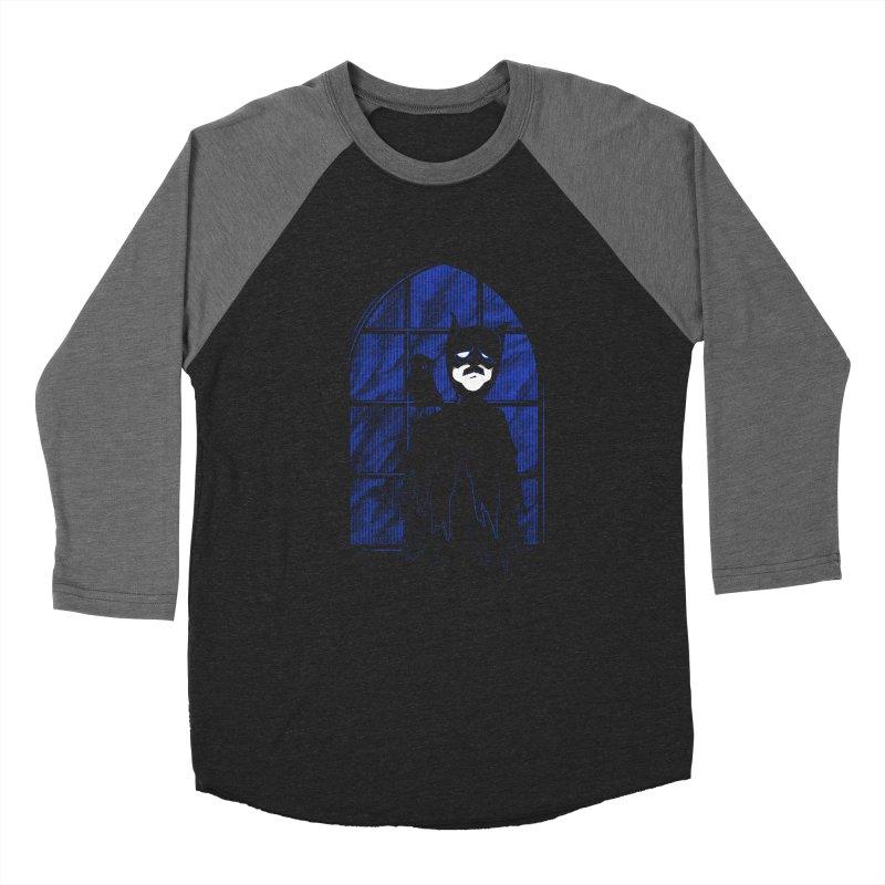 Batpoe Men's Baseball Triblend T-Shirt by Ben's Shirt Shop of AwesomeShop