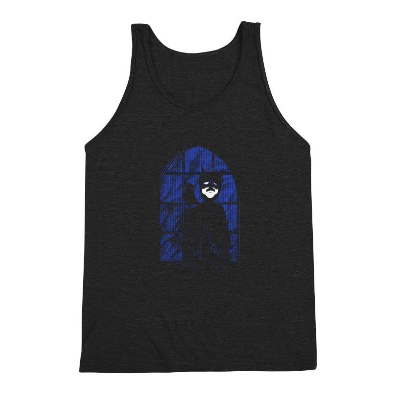 Batpoe Men's Triblend Tank by Ben's Shirt Shop of AwesomeShop