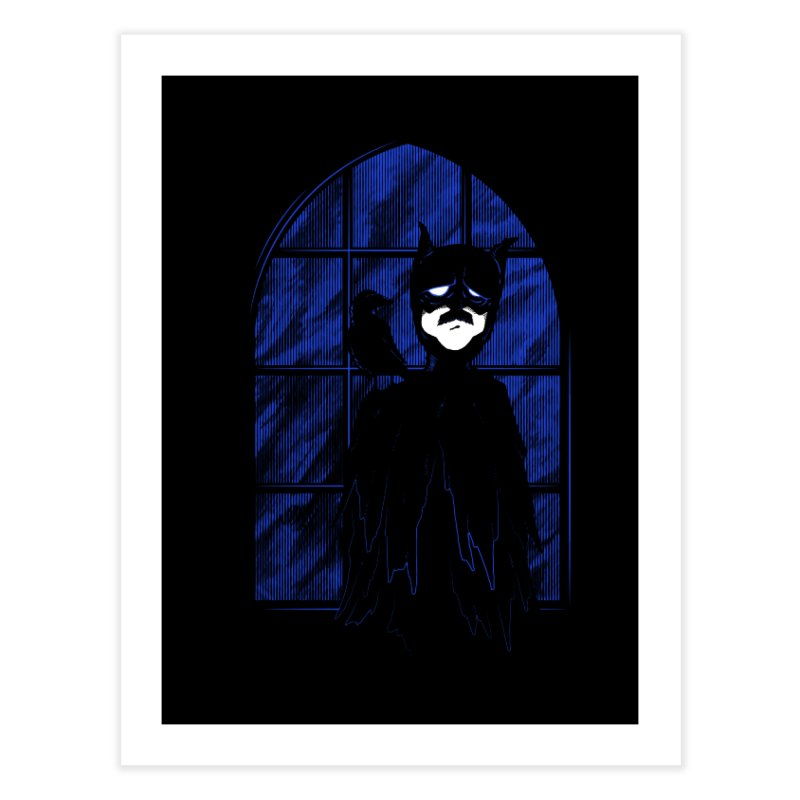 Batpoe Home Fine Art Print by Ben's Shirt Shop of AwesomeShop