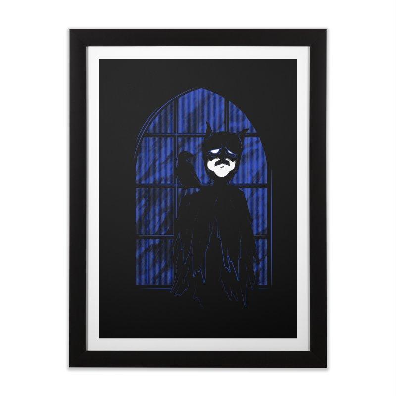 Batpoe Home Framed Fine Art Print by Ben's Shirt Shop of AwesomeShop