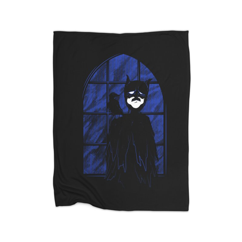 Batpoe Home Fleece Blanket by Ben's Shirt Shop of AwesomeShop
