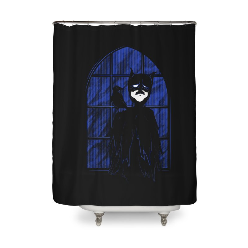 Batpoe Home Shower Curtain by Ben's Shirt Shop of AwesomeShop