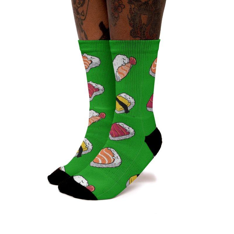 Sleepy Sushi Women's Socks by Benjimoji