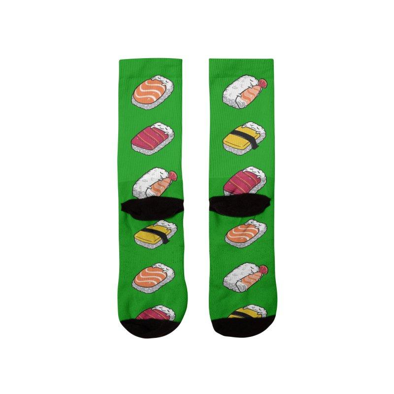 Sleepy Sushi Men's Socks by Benjimoji