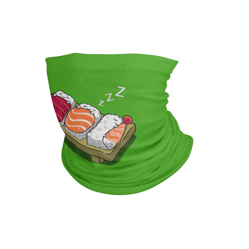 Sleepy Sushi Accessories Neck Gaiter by Benjimoji