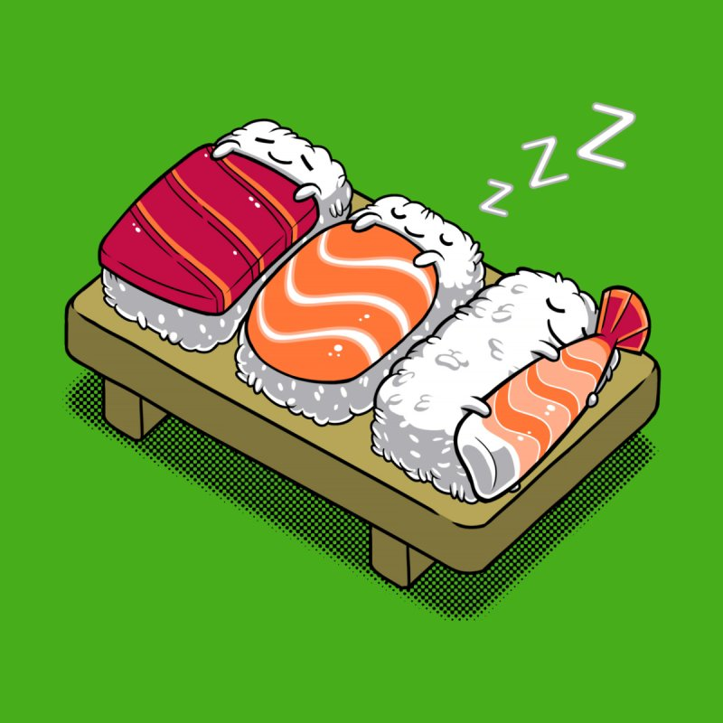 Sleepy Sushi Accessories Face Mask by Benjimoji
