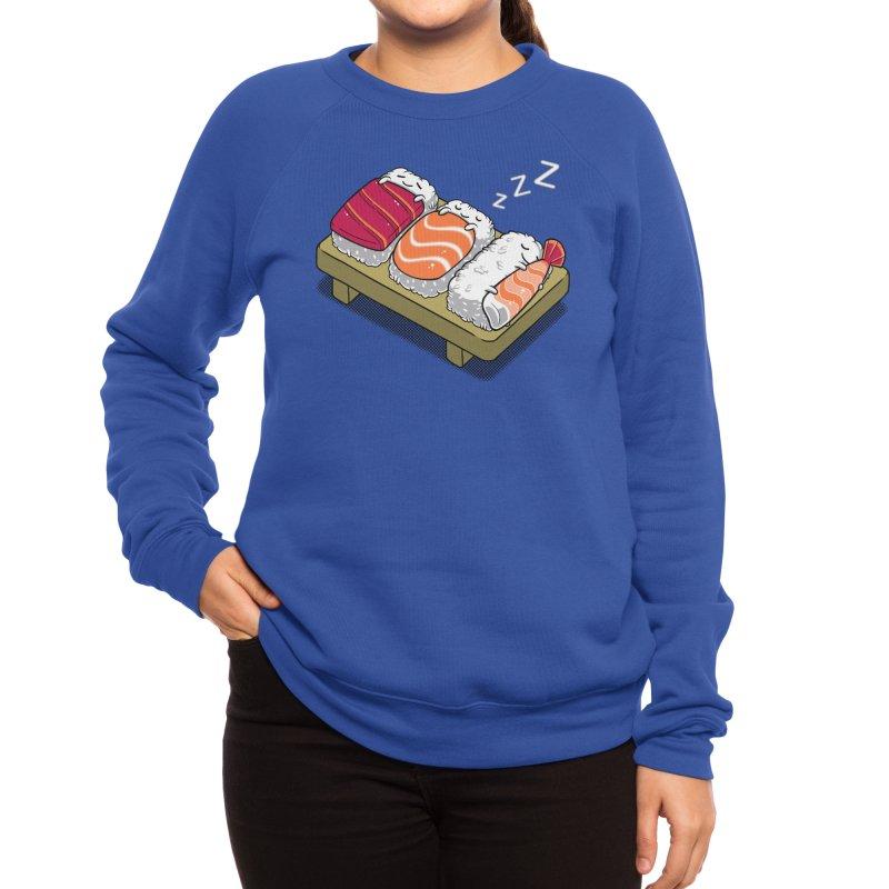 Sleepy Sushi Women's Sweatshirt by Benjimoji