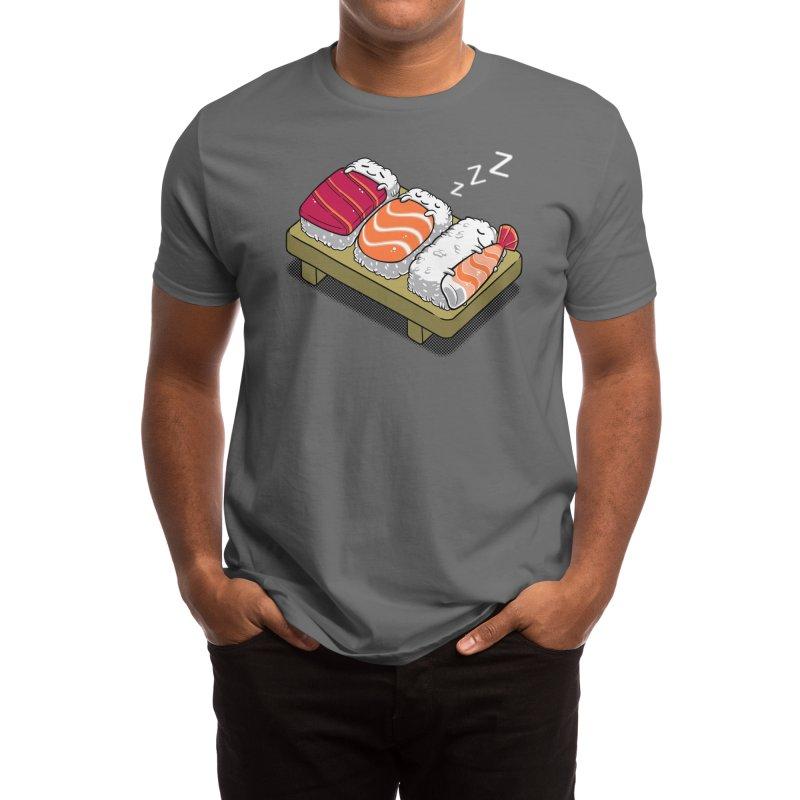Sleepy Sushi Men's T-Shirt by Benjimoji