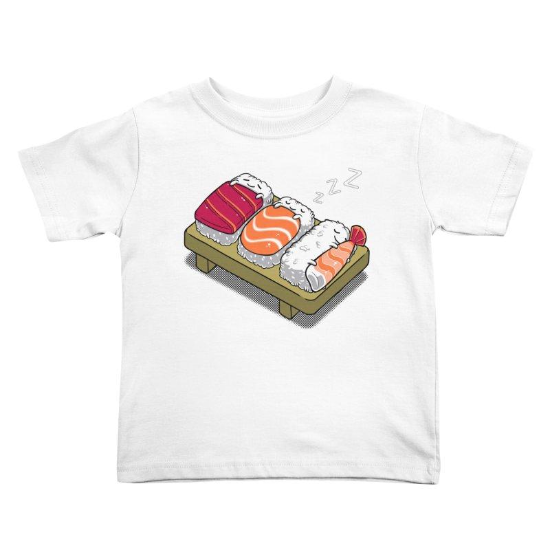 Sleepy Sushi Kids Toddler T-Shirt by Benjimoji