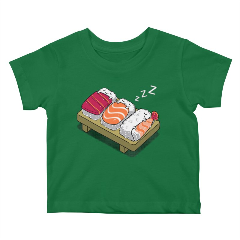 Sleepy Sushi Kids Baby T-Shirt by Benjimoji
