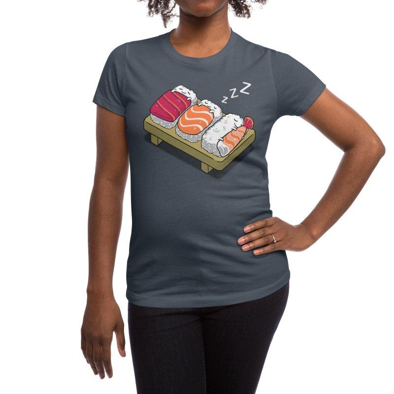 Sleepy Sushi Women's T-Shirt by Benjimoji