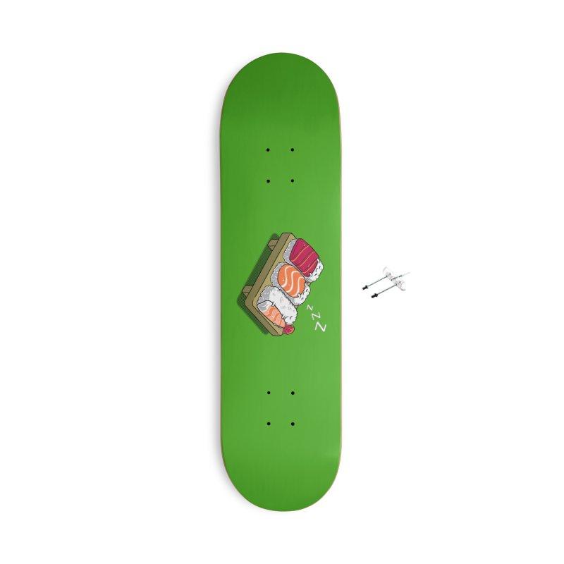 Sleepy Sushi Accessories Skateboard by Benjimoji