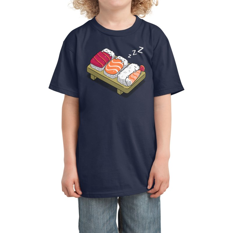 Sleepy Sushi Kids T-Shirt by Benjimoji