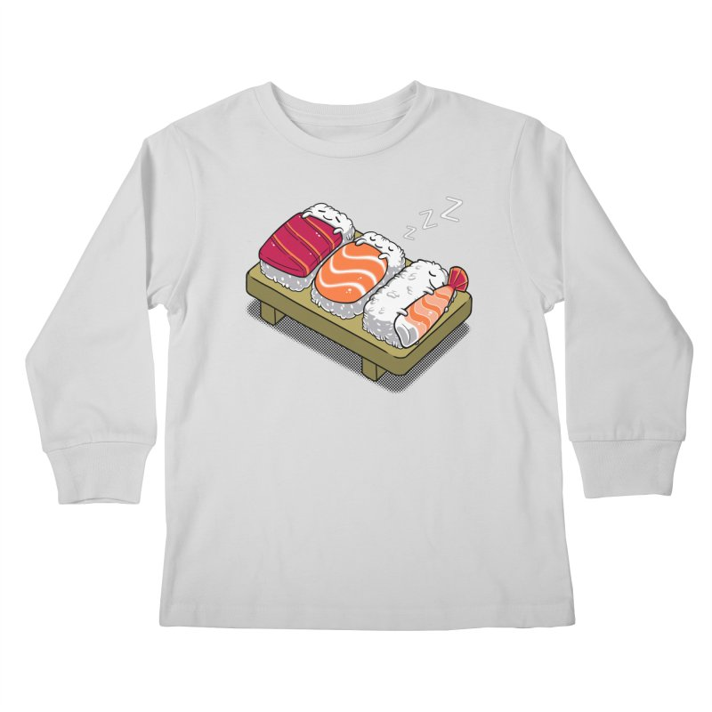 Sleepy Sushi Kids Longsleeve T-Shirt by Benjimoji