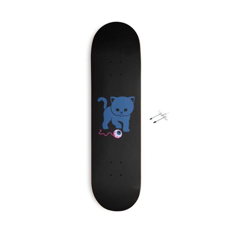 Curious Kitty Accessories Skateboard by Benjimoji