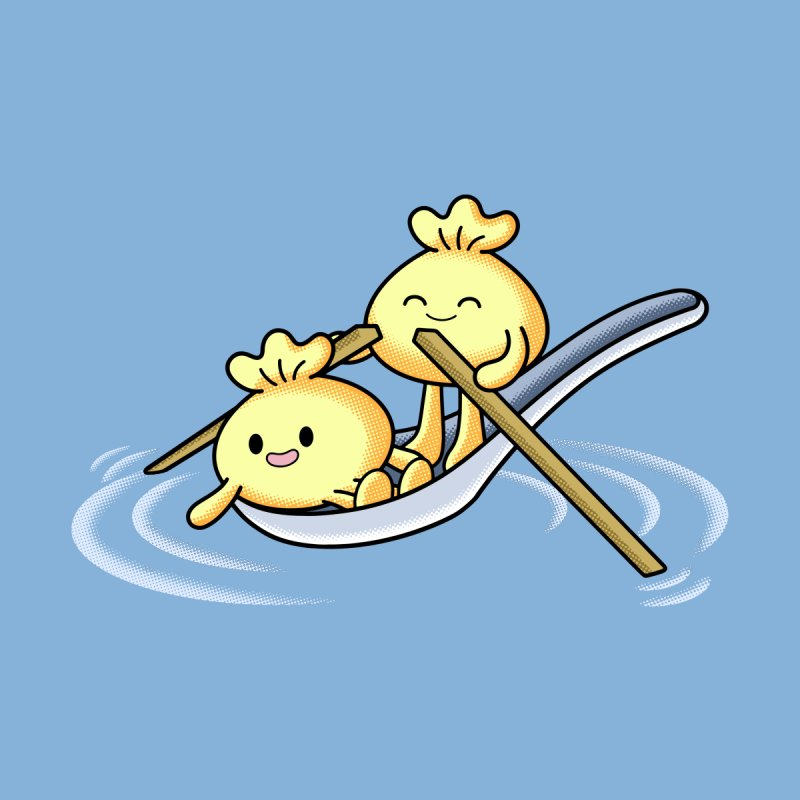 Dumpling Boat Accessories Neck Gaiter by Benjimoji