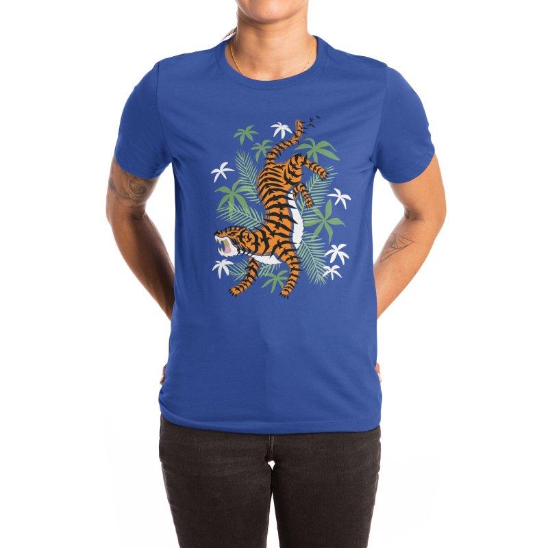 Crouching Tiger Hidden Birds Women's T-Shirt by Benjimoji