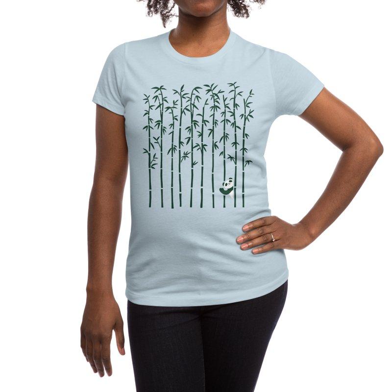Hey Panda Women's T-Shirt by Benjimoji