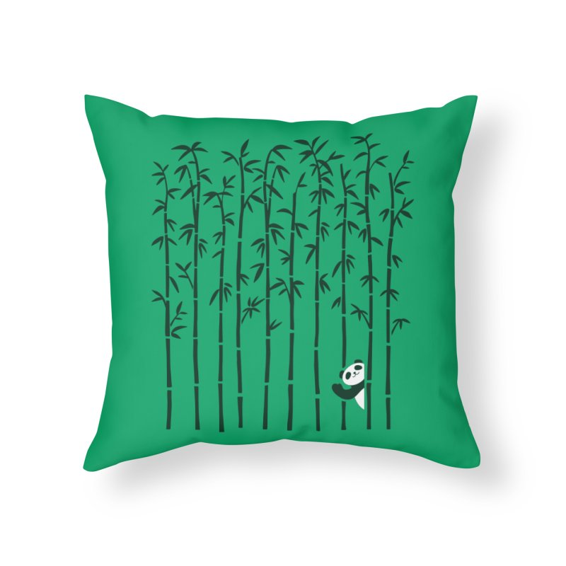 Hey Panda Home Throw Pillow by Benjimoji