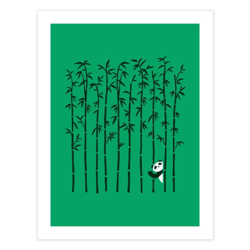 Hey Panda Home Fine Art Print by Benjimoji