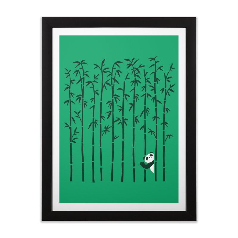 Hey Panda Home Framed Fine Art Print by Benjimoji