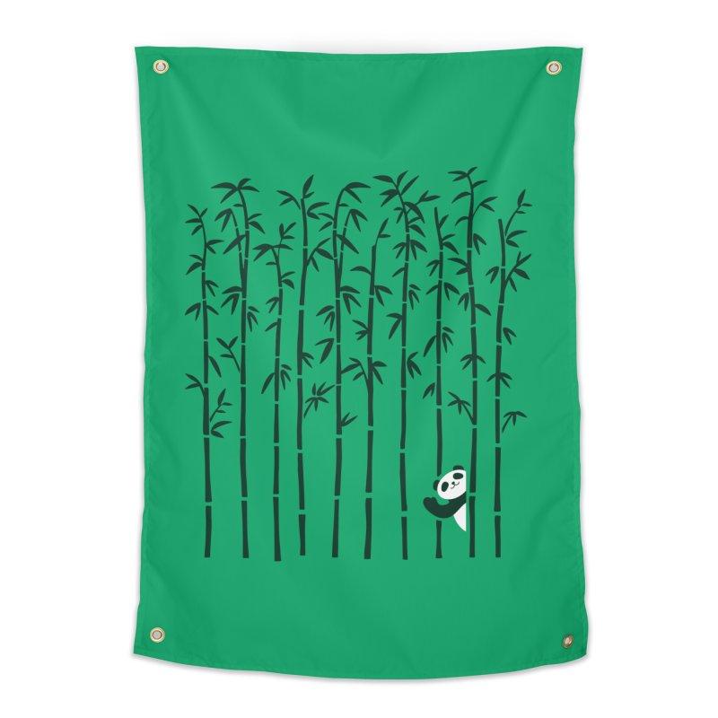 Hey Panda Home Tapestry by Benjimoji