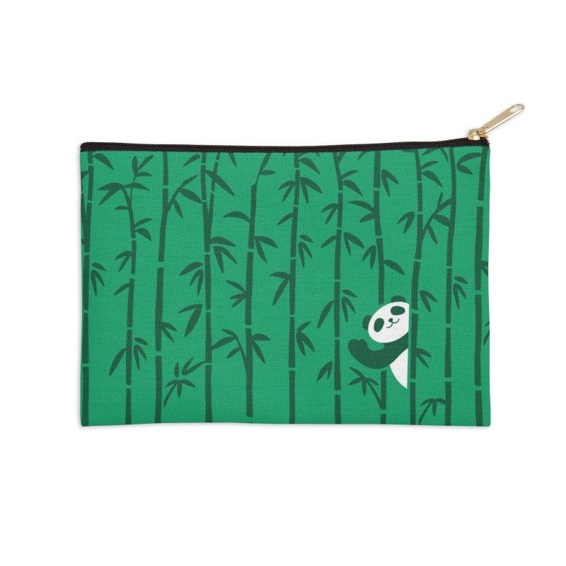 Hey Panda Accessories Zip Pouch by Benjimoji