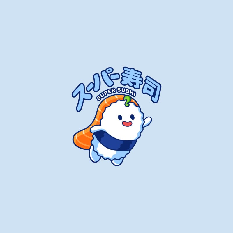 Super Sushi (Mini) Men's T-Shirt by Benjimoji