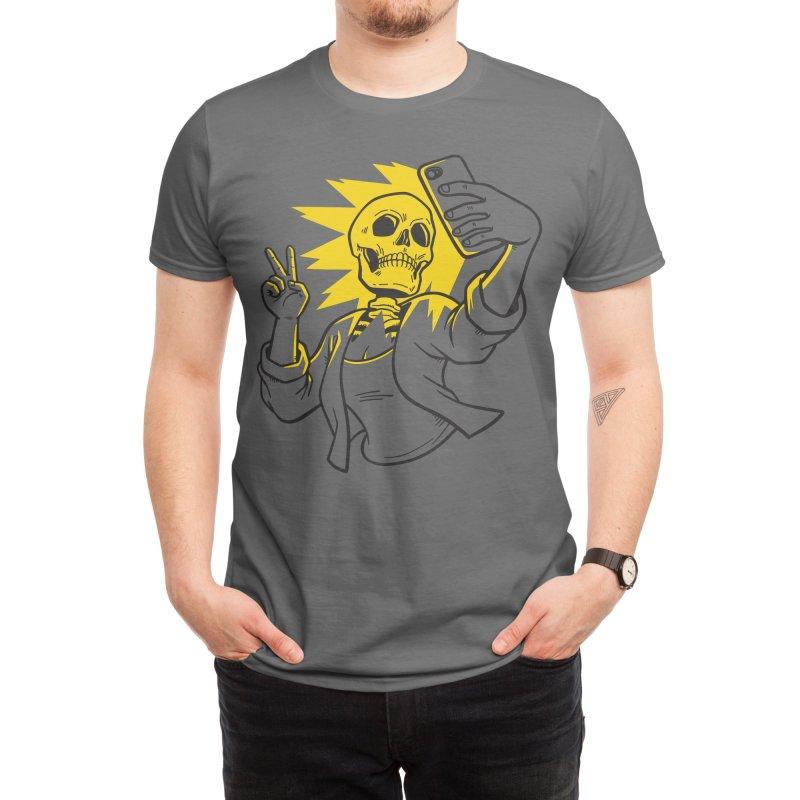 Skeletal Selfie Men's T-Shirt by Benjimoji