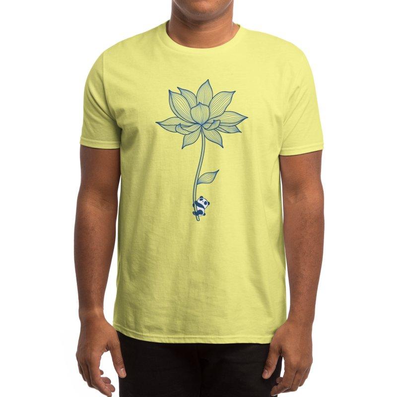 Panda Lotus Men's T-Shirt by Benjimoji