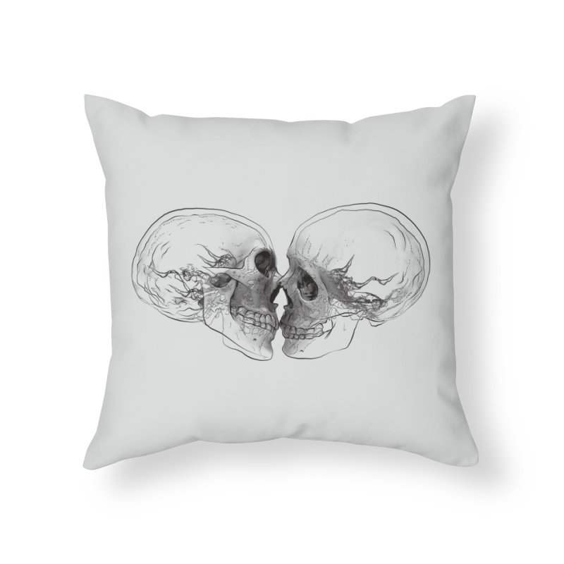 Boning Home Throw Pillow by benk's shop