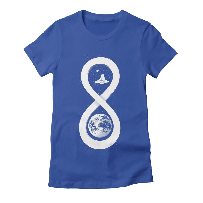 Infinite Exploration Women's Fitted T-Shirt by benk's shop