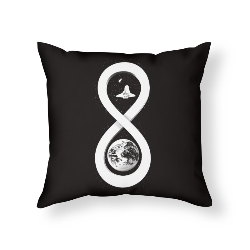 Infinite Exploration Home Throw Pillow by benk's shop