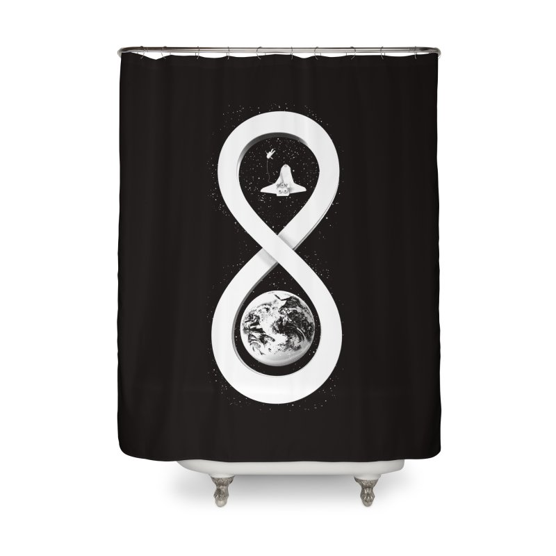 Infinite Exploration Home Shower Curtain by benk's shop