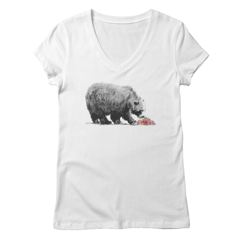 Cannibalism Women's V-Neck by benk's shop
