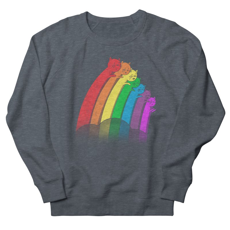 Rainbow Cats Women's French Terry Sweatshirt by benk's shop