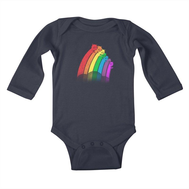 Rainbow Cats Kids Baby Longsleeve Bodysuit by benk's shop