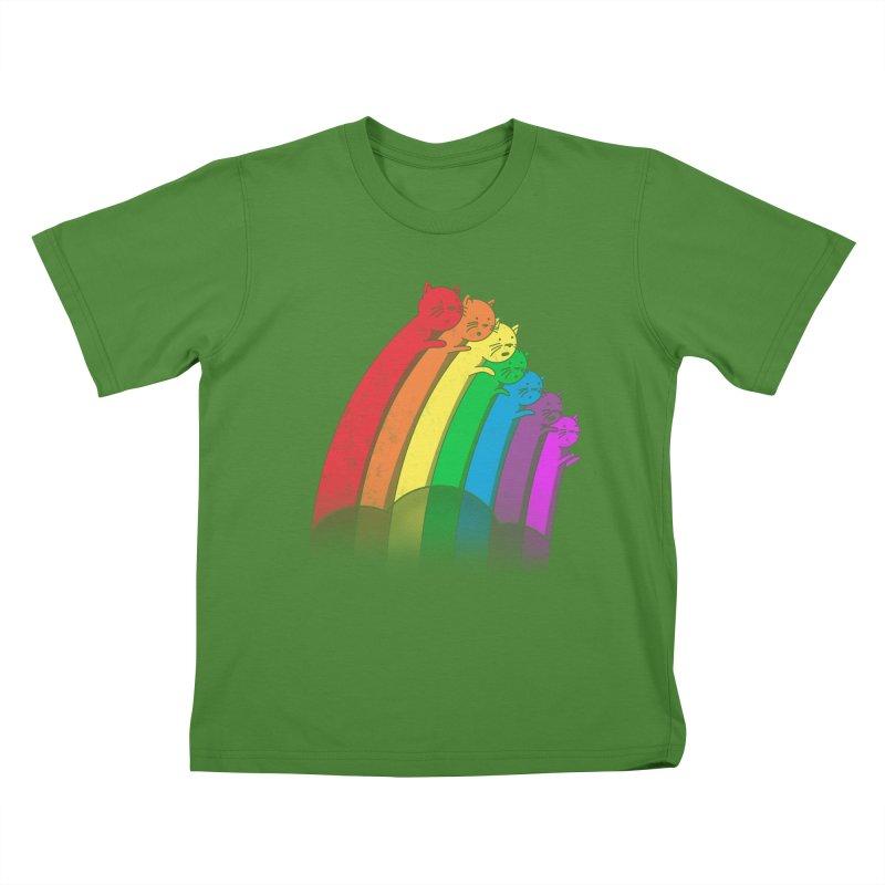 Rainbow Cats Kids T-shirt by benk's shop