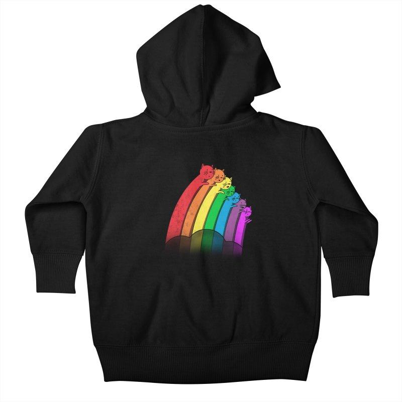 Rainbow Cats Kids Baby Zip-Up Hoody by benk's shop