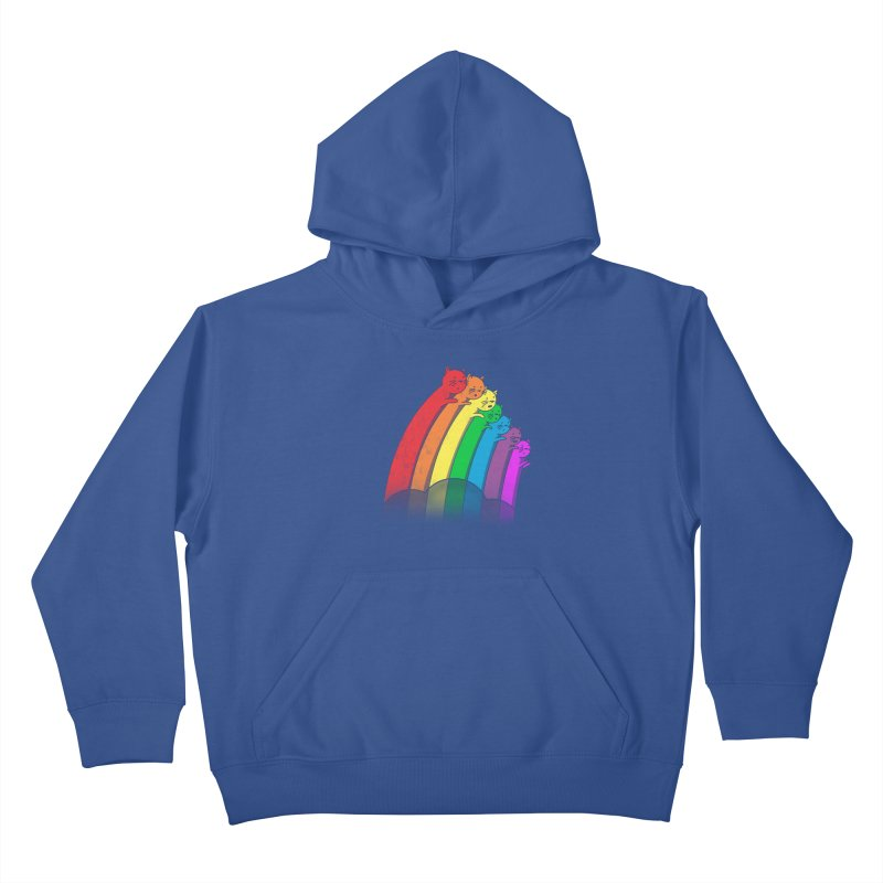 Rainbow Cats Kids Pullover Hoody by benk's shop