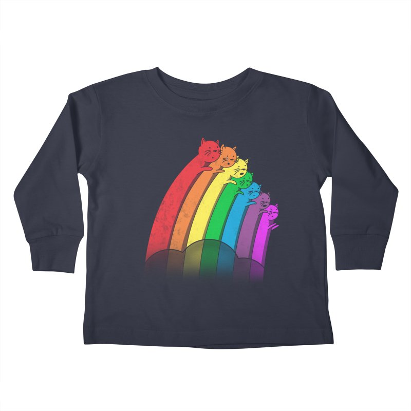 Rainbow Cats Kids Toddler Longsleeve T-Shirt by benk's shop