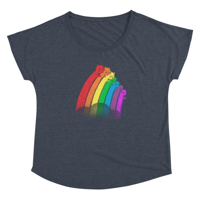 Rainbow Cats Women's Dolman Scoop Neck by benk's shop