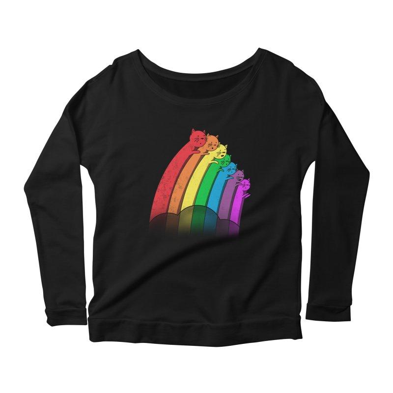 Rainbow Cats Women's Longsleeve Scoopneck  by benk's shop