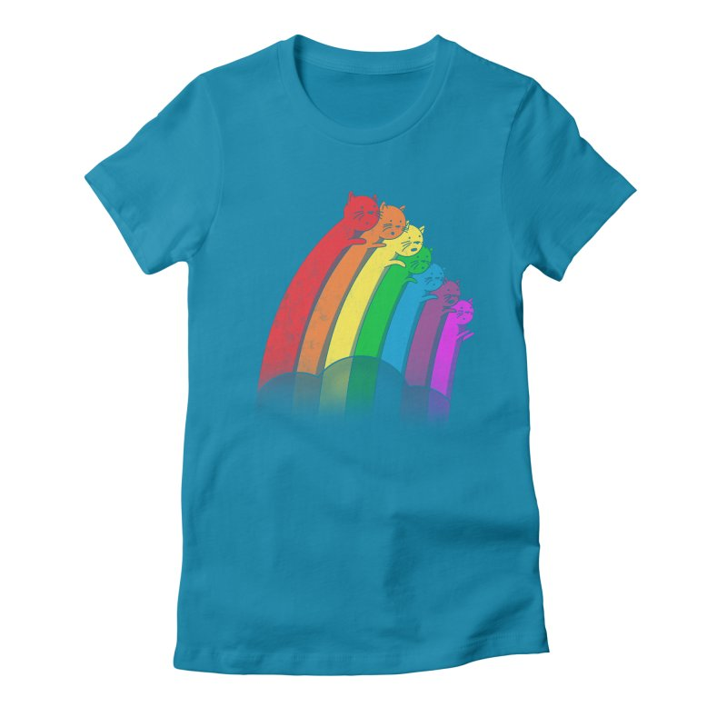Rainbow Cats Women's Fitted T-Shirt by benk's shop