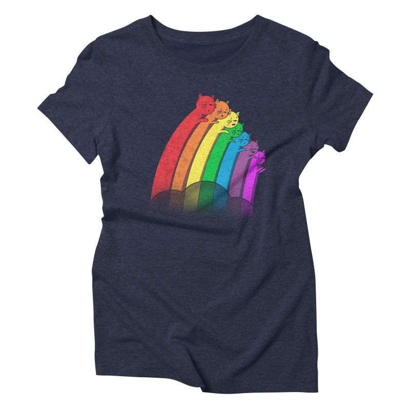 Rainbow Cats Women's Triblend T-shirt by benk's shop