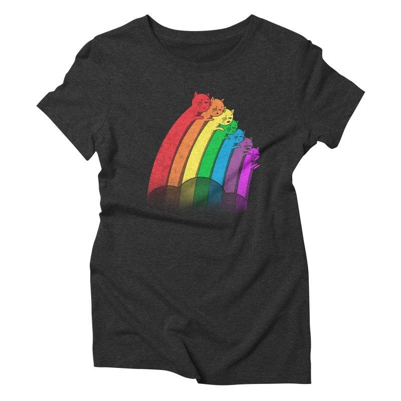 Rainbow Cats Women's Triblend T-Shirt by benk's shop